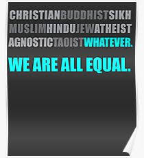 religious equality posters redbubble