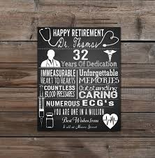 Personalised Home Decor Retirement Leaving Doctor Nurse Personalised Typography