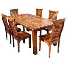Rustic Dining Room Tables And Chairs | britain rustic teak wood trestle base dining table and chair set