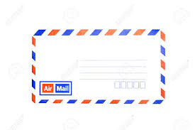 pattern of airmail envelope isolated on white background stock