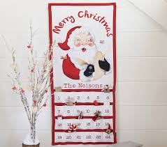 printed santa advent calendar pottery barn kids