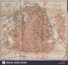 Lille France Map by Lille Antique Town City Plan De La Ville Nord Carte Baedeker