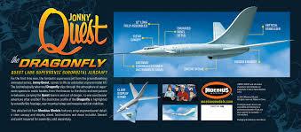 jonny quest jonny quest dragonfly jet plane model kit from moebius models moe946