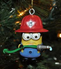Firefighter Christmas Tree Ornaments by New Despicable Me 2 Me2 Minion Fireman W Hose Christmas Tree