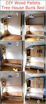 diy wood pallets tree house bunk bed wood pallet furniture