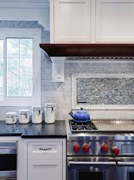 Kitchen Backsplash Mosaic Tile Designs Kitchen Style Farmhouse Kitchen With Honey Cabinets And Chrome