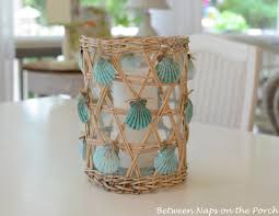 Beach Themed Home Decor by Seashell Craft For Nautical Beach House Decorating