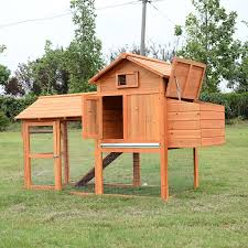 Backyard Chicken Run by Pawhut Deluxe Wood Chicken Coop Nesting Box Backyard Poultry Hen