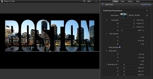 final cut pro text effects video in text ripple training
