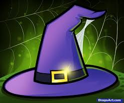 How To Draw A Witch Hat Step By Step Halloween Seasonal Free