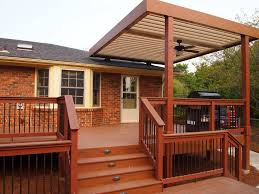 Detached Covered Patio by Deck Cover Plans Radnor Decoration