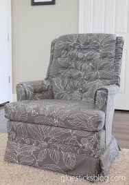 how to reupholster a swivel rocker chair gluesticks