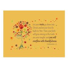 scripture thanksgiving postcards zazzle au