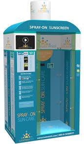 photo booth machine sunscreen spray machines sunscreen mist
