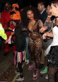 Best Halloween Looks Mel B Recalls Spice Girls Glory In Leopard Print At Jonathan Ross