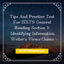tips u0026 exercises for ielts general reading section 3 identify