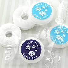 mint to be wedding favors winter silhouette savers mint favors