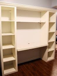 wall units shelving unit with desk desk with shelves on side diy desk from ikea