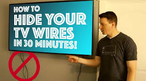 how to hide wires wall mount tv how to hide your tv wires in 30 minutes diy youtube