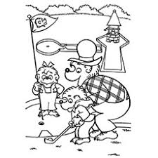 10 golf coloring pages