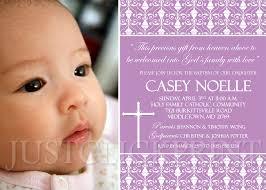 Sample Invitation Card For Christening Damask Baptism Christening Dedication Photo Invitation Pink Purple
