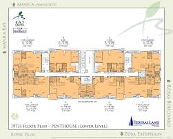 floor plan bay garden club and residences