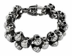 bracelet skull images Sterling silver skull bracelets mens skull bracelets bone skull jpg
