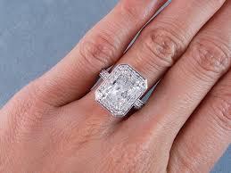 radiant cut engagement ring ctw radiant cut diamond engagement ring e si2