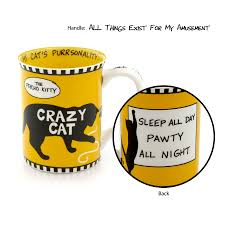 Crazy Mugs by Our Name Is Mud Dog U0026 Cat Coffee Mugs From Betsy