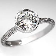 beveled engagement ring bevel set diamond rings wedding promise diamond engagement