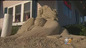 sand sculpture of cape cod mermaid draws complaints cbs los angeles