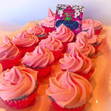 cotton candy cupcake with bubblegum fizzy frosting