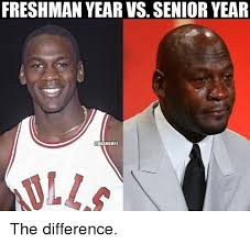 Senior Year Meme - freshman year vs senior year nbamemes alla the difference nba meme