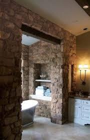 Good Neighbors A Natural Home On Montanas Flathead Lake Truck - Stone bathroom design