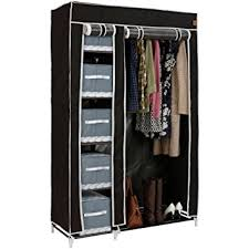 clothes cupboard vonhaus double canvas effect wardrobe clothes storage cupboard