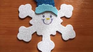 craft for kids how to make a smiley snowflake for christmas and