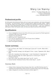 babysitting resume templates babysitting resume sles nanny resume templates page best