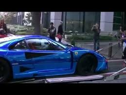 blue f40 supercar f40 lm blue chrome wrapping special mp4