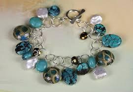 turquoise pearls bracelet images Liz prescott jewelry jpg