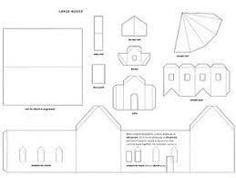 printable model house template paper house template paper fix paper houses of paper and things