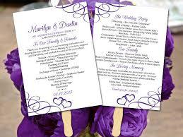 In Memory Of Wedding Program 1000 Ideas About Purple Heart Menu On Pinterest