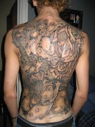 back piece asian dragon tattoo for women