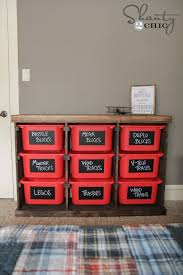 How Do You Make A Wooden Toy Box by Diy Storage Idea Shanty 2 Chic