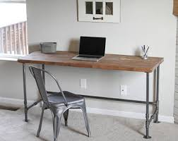 Industrial Writing Desk by Pipe Desk Etsy