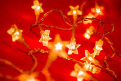 star shaped christmas lights royalty free stock photos image