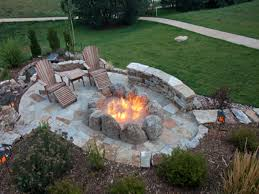 Easy Backyard Fire Pit Designs by 36 Outdoor Stone Fire Pit Victory Stone Gas Burning Firepit