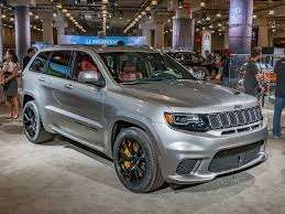 jeep grand cherokee gray 2018 jeep grand cherokee trackhawk suv with a hellcat heart