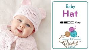 crochet easy baby hat with teddy ears tutorial the