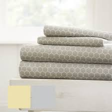 soft sheets home collection ultra soft honeycomb pattern 4 piece bed sheet set