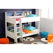 Single Bunk Bed With Desk Bookcase Photo Of Loft Bed L136 With Stain Lacquer Clearcoat